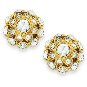 NWT Kate Spade Crystal Ball Gold Earrings Pave